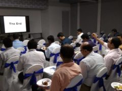 Dr. Acharya speaks on deep learning evolution at AILABS on 18.04.18