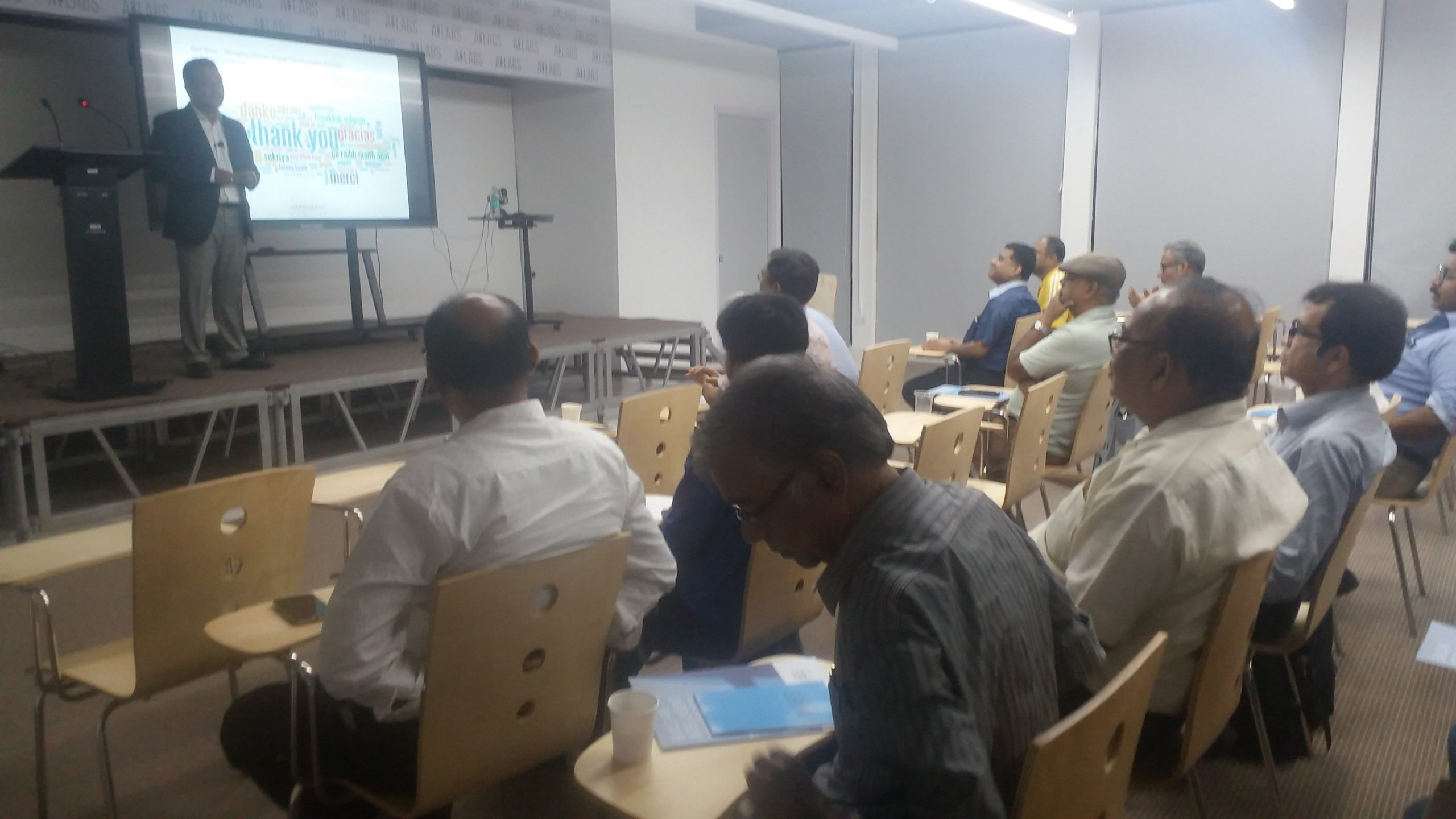 Sarit Bose Speaking on an event at AILABS